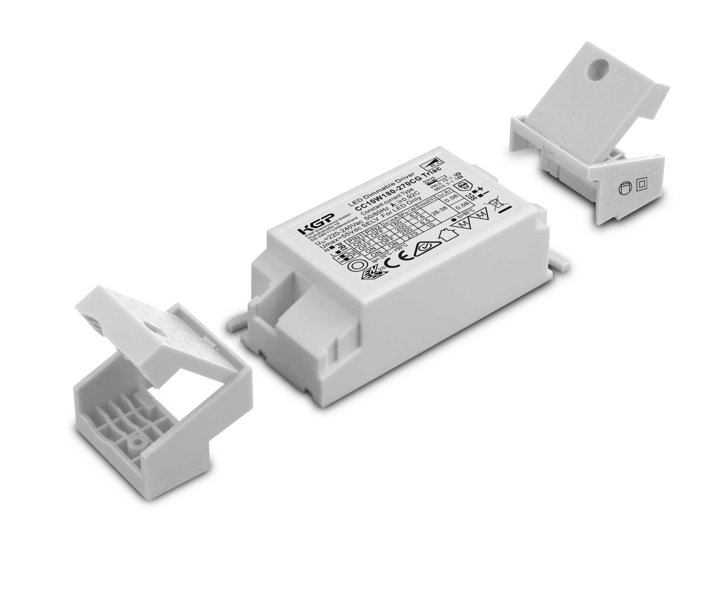Dimmable Triac Constant Current Led Driver With 10w And 180 270ma Adjustable Load 1 2