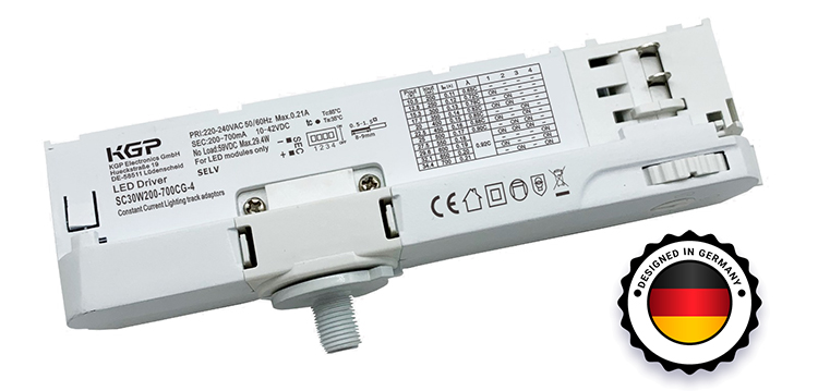 Track Light LED Driver 30 Watts 200-700mA Designed in Germany