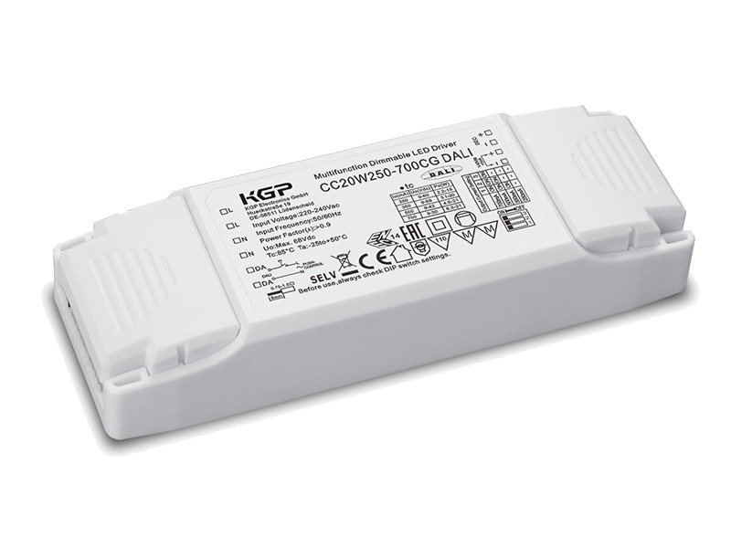 DALI and 1-10V dimmable 20 Watt LED Driver  in compact housing