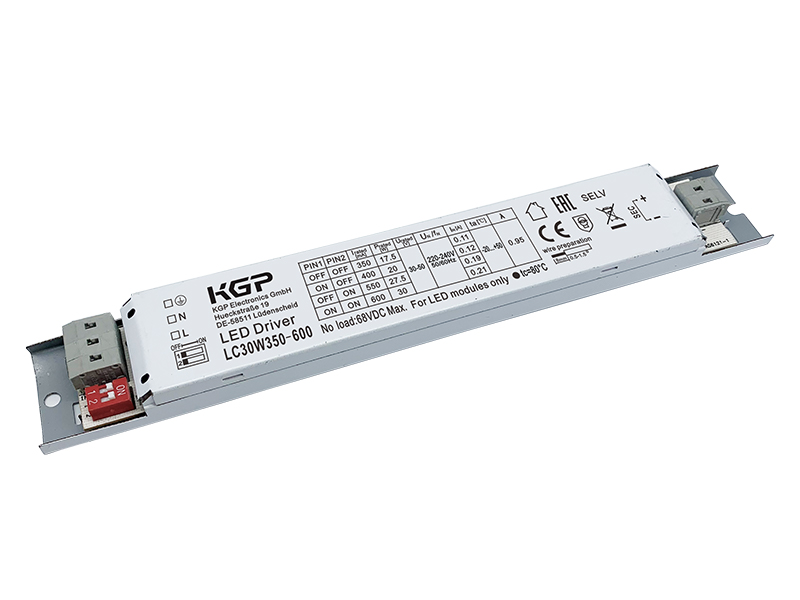 Switchable 30Watt Linear LED Driver with 350-600mA
