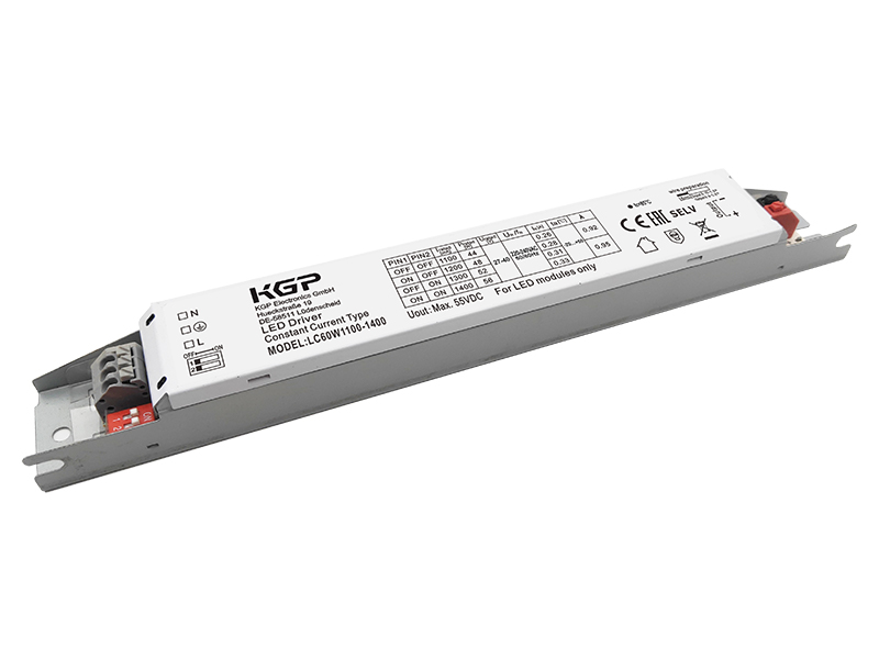 Switchable 60Watt Linear LED Driver with 1100-1400mA