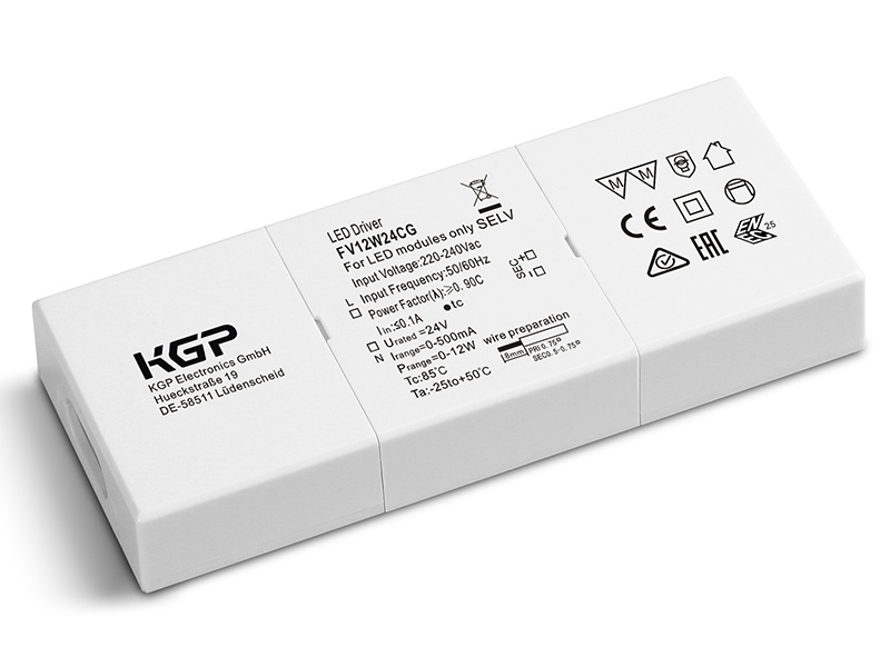 Flat Constant Voltage 12 Watt 24Volt LED Driver
