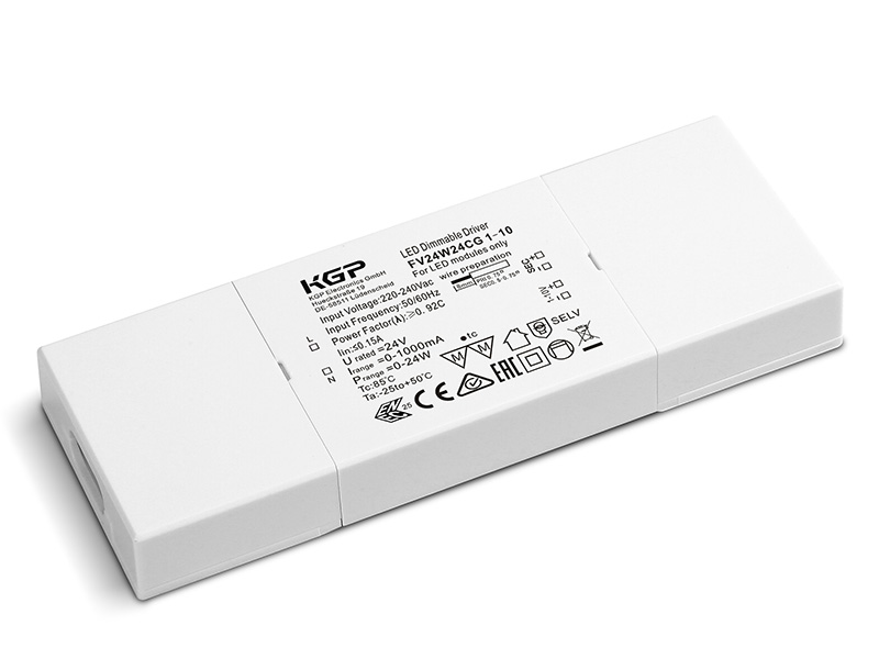 1-10V dimmable Constant Voltage LED Driver Flat 24 Watt 24 Volt