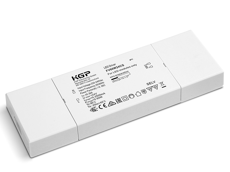 Constant Voltage LED Driver Flat 60 Watt 24 Volt