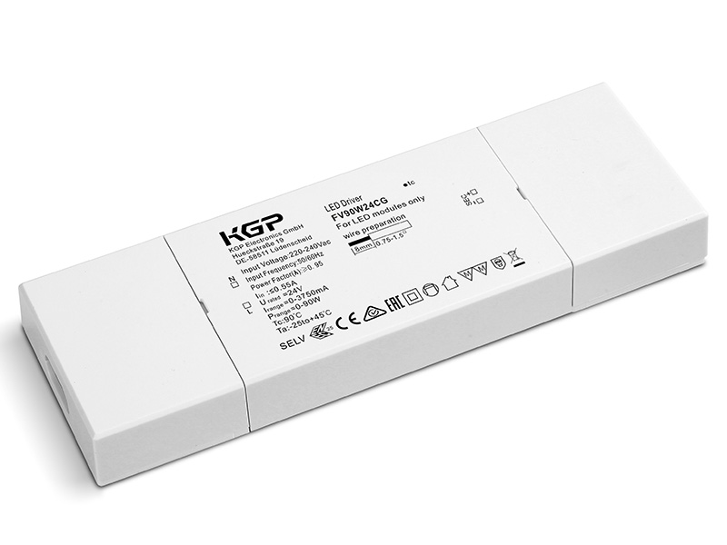 Constant Voltage Flat LED Driver 90 Watt and 24 Volt