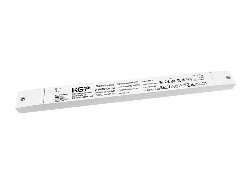1-10V dimmable Linear LED Driver with 150W and 24V