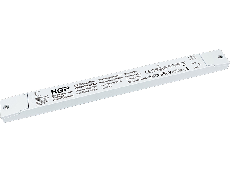 DALI Dimmable LED Driver LV100W 24V Cord Grip